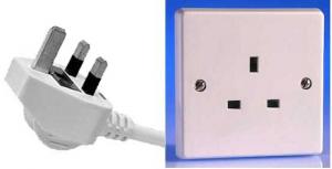 British electrical plug and socket